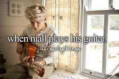 He plays it in Little Things... <3 Luv you Nialler...