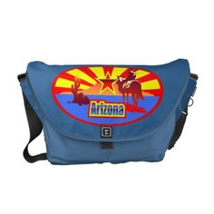 Arizona State Flag Vintage Drawing Courier Bag