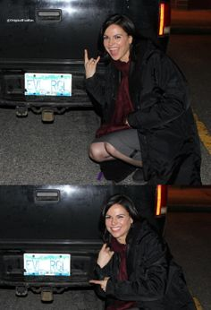 Once Upon a Time - Lana Parrilla Never thought i would see the evil witch do that O.o