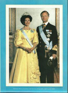 Koningin Silvia en koning Carl Gustaaf welke 30 april 1996  50 jaar wordt