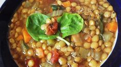 Lentils are coupled with vegetables for this family-friendly lentil soup. Topped with spinach and a splash of vinegar, this is the perfect weekday dinner.