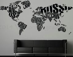 New york city map illustration wall decal by claire lordon new world map decor travel wall decal world map decal adventure decor class room decor office decor living room decal travel decor gumiabroncs Image collections