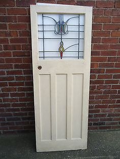 1930s art deco #internal door with original #stained #glass.,  View more on the LINK: http://www.zeppy.io/product/gb/2/351668585825/