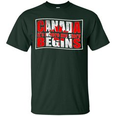 Canada T-shirts Canada It's Where My Story Begins Hoodies Sweatshirts