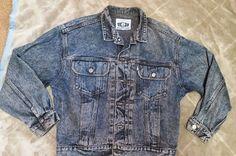 Levi Strauss Co Silver Tab Jean Trucker Jacket  Mens sz M Buckle Back Denim #Levis #JeanJacket