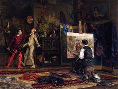 Julius LeBlanc Stewart, In the Artists Studio, 1875