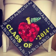 Decorated mortar board. Class of 2014. Ideas for teacher.