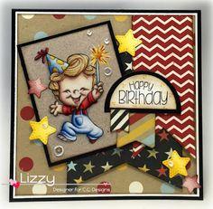 Roberto's Rascals Surprise! stamp set, Make a Banner #15 dies, Make a Card #14 dies, Cutter Circles dies