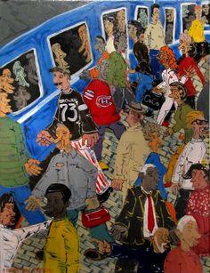 Sébastien Moreau is an acrylic on canvas artist represented by the Shayne Gallery. Sébastien Moreau est une artiste représenté par la Galerie Shayne . Naive Art, Sculptures, Artwork, Painting, Inspiration, Artist, Work Of Art, Biblical Inspiration, Painting Art