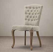 19th C. French Victorian Tufted Camelback Side Chair