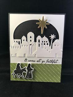 SU Night In Bethlehem card. Love the matching framelits. Kweis