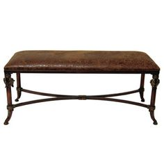 Leather Entryway Bench