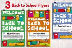 3 Back to School Flyer Templates  @creativework247