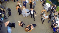 For unique wedding photography, book a drone | Drones outfitted with a camera are increasingly being used to document weddings as couples are drawn to the unique aerial perspective. (+video) Note: Commercial drones are technically illegal without an FAA exemption. Many claim to be in a legal gray area.