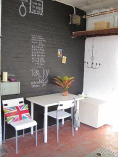Chalkboard Painted Wall #DecorDIY
