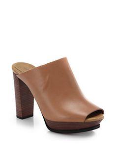 See by Chloe - Block-Heeled Leather Mule Sandals
