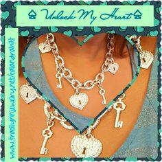 Unlock My Heart (necklace, bracelet, stud earrings)