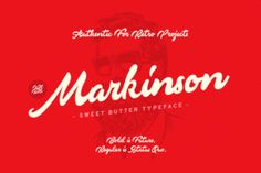 http://Markinson is a stunning font with a classic and retro style.