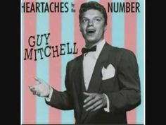 """GUY MITCHELL- """"HEARTACHES BY THE NUMBER""""  (LYRICS)"""