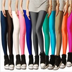 2013 stocking tights plus size legging candy color neon color leggings women's tights high stretched yoga  pants best selling $6.29