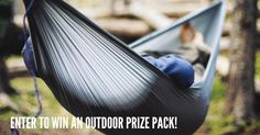 In the spirit of summer fun, we're giving away an Outdoor Prize Pack including a Grand Trunk Ultralight Hammock.