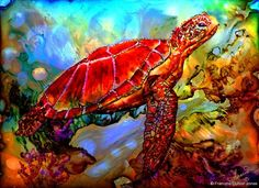 Alcohol Ink Tips with Francine Dufour Jones; Turtles...