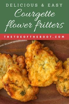 Try this easy recipe for delicious courgette flower fritters