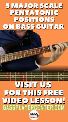Learning the 5 major scale pentatonic positions will greatly improve your bass playing ability. This free lesson includes written instruction, videos, and fretboard charts. #BassGuitar #Pentatonics #BassLessons Bass Guitar Scales, Learn Bass Guitar, Bass Guitar Lessons, Guitar Lessons For Beginners, Guitar Songs, Guitar Exercises, Custom Bass, Simply Learning, Major Scale