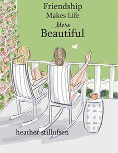 Friendship Makes Life More Beautiful SUMMER Art for Women