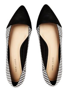 New Look | New Look Lebra Striped Flat Shoes at ASOS