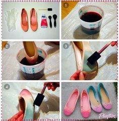 Tye dye flats