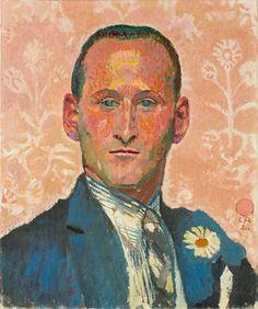 Cuno Amiet (Swiss, 1868–1961), Bildnis Emil [Portrait of Emil], 1926. Oil on canvas, 46 x 38 cm.