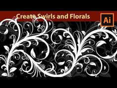 How to draw Florals - Swirls - Flourishes in Adobe Illustrator - YouTube