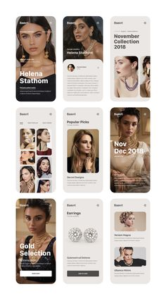 Indian Concept Jewellery / Brand Identity on Behance Mobile Web Design, App Ui Design, Web Design Trends, Interface Design, Identity Design, Layout Design, Brand Identity, Flat Design, Design Design