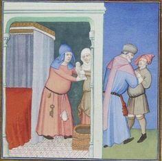 Publius Terencius Afer, Comoediae [comédies de Térence] ca. 1411;  Bibliothèque de l'Arsenal, Ms-664 réserve, 23r
