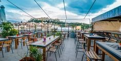 Rooftop bars in Athens: couleur locale bar Athens Bars, Athens Hotel, Athens Greece, Athens Food, Mykonos Greece, Crete Greece, Greece Vacation, Greece Travel, Greece Trip