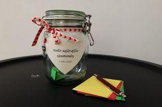 Pohár spomienok / Memory jar - free tutorial Jar, Memories, Free, Memoirs, Souvenirs, Remember This, Jars, Glass