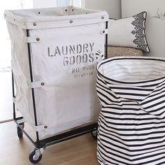 Tvättkorg, Laundry Goods, Tvättkorg med rullvagn