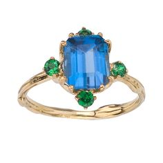 Vintage Inspired Gemstone Ring  Natural Twig Design  by bmjnyc, $890.00