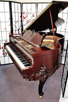 Gorgeous Art Case Wurlitzer Baby Grand Piano Refinished/Refurbished July 2012.
