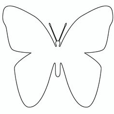 Butterfly pattern use the printable outline for crafts creating stencils scrapbooking and - Silhouette papillon imprimer ...