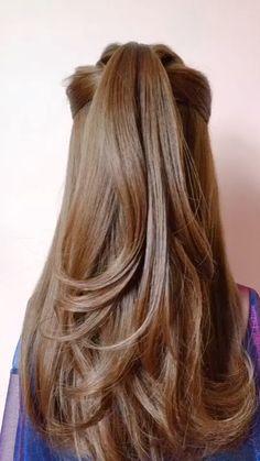 hair style girl korean, hair style girl kids easy hair style girl kiss, hair style girl little Party Hairstyles For Long Hair, Braids For Long Hair, Easy Hairstyles, Long Hairstyles With Layers, Hairstyles For Medium Length Hair, Homecoming Hairstyles, Retro Hairstyles, Long Hair Cuts, Straight Hair