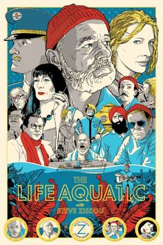 'The Life Aquatic with Steve Zissou' by Hotel Chevalier and Show Flyer
