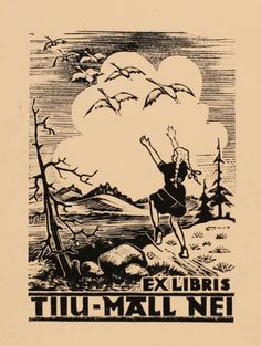 Ex libris by Estonian artist Johannes Juhansoo