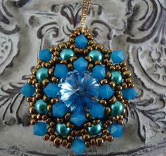 Mandala Earrings. Beading Patterns and Projects by Ellad2