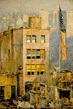 Childe Hassam - The Flag, Fifth Avenue, 1918 at the Virginia Museum of Fine Arts (VMFA) Richmond VA