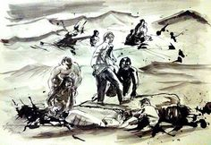 """Saatchi Art is pleased to offer the drawing, """"Save Them,"""" by Philippe Laferriere. Original Drawing: Ink on Paper. My Drawings, Saatchi Art, Dirt Track, Ink, Art Prints, Artist, Painting, Flat, Art Impressions"""
