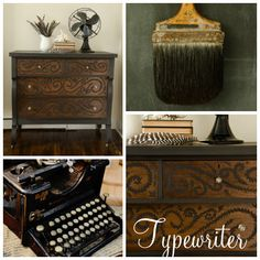 Typewriter is a wonderful antique black that richens in color when hempseed oil or furniture wax is applied. Don't be alarmed if it looks dark gray and/or chalky before it is sealed - completely normal. The color will come to it's true hue once oil or wax is applied.