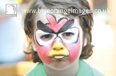 I'm Edna, a facepainter in Abbots Langley, Watford, Hertfordshire. Here's an Angry Birds face – I can do facepainting for your themed birthday party. I'd love to do facepainting for your party, please phone 01923 350596 or phone / text 07971 813850.