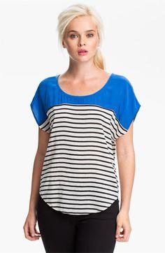 Joie 'Agacia' Colorblock Silk Top
